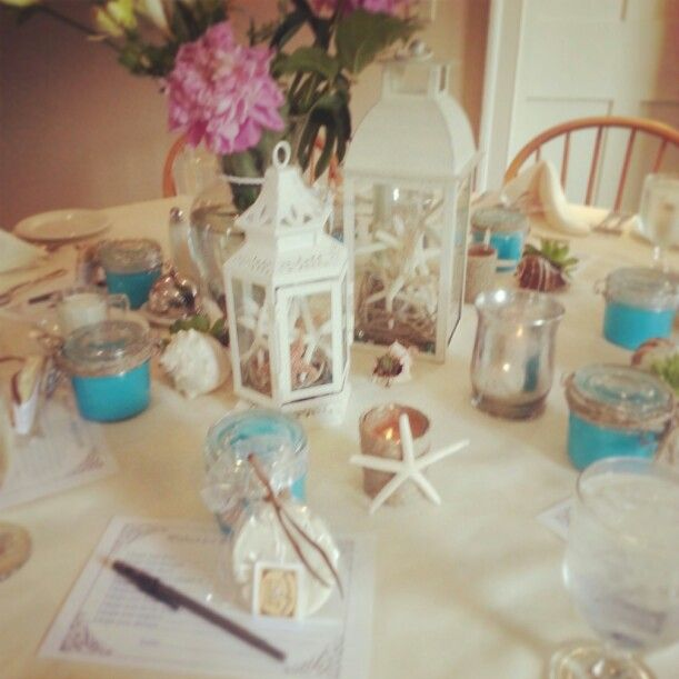 beach themed wedding shower decorations