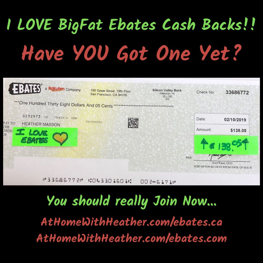 I ABSOLUTELY LOVE EBATES!!! 💰💰Have You Signed Up Yet