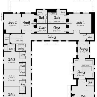 Gated Castle Tower Home 5 Bedrooms Tyree House Plans Castle House Plans Castle Plans Castle Floor Plan