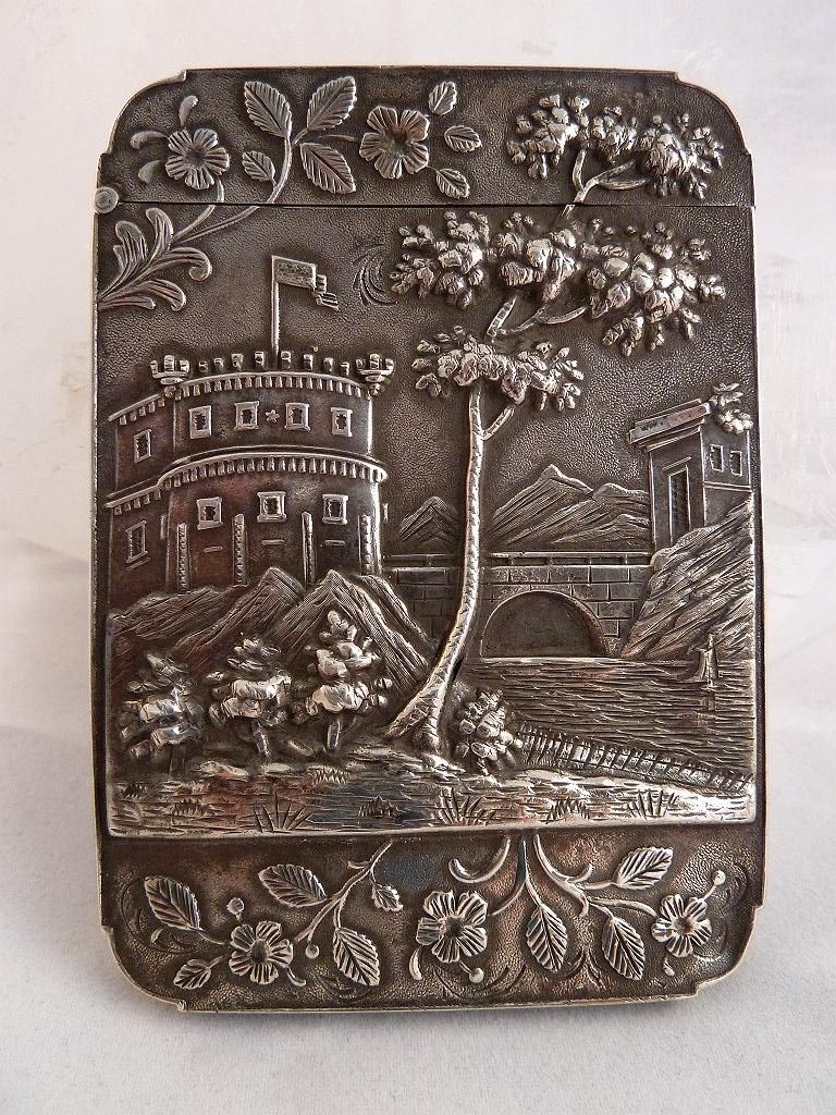 Silver American Victorian Calling Card Case | Calling Card Cases ...