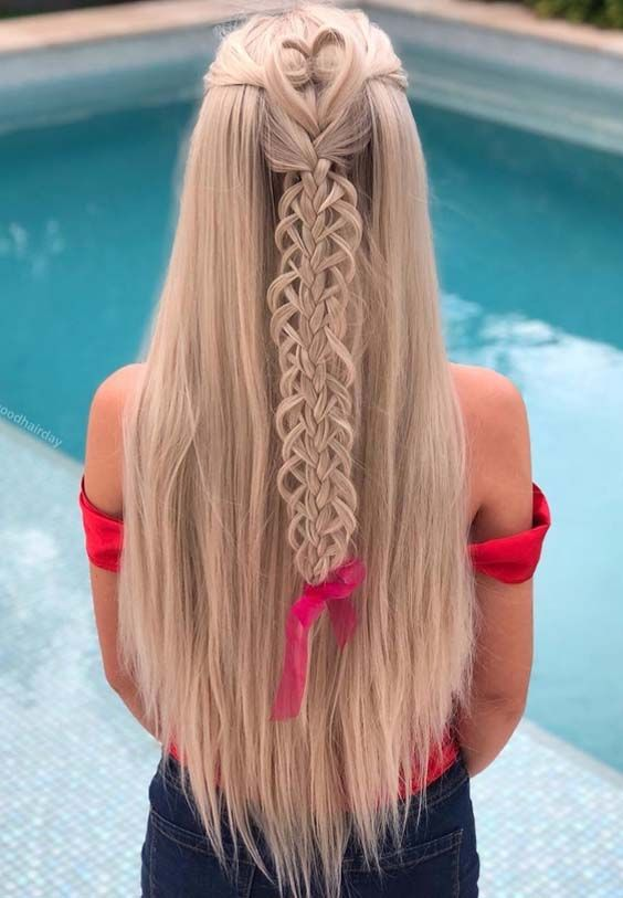 Dedicated Looks For Long Braided Blonde Hairstyles For Amazing And Cute Styles In 2018 These Ar Hair Styles Braided Hairstyles For Wedding Women Haircuts Long