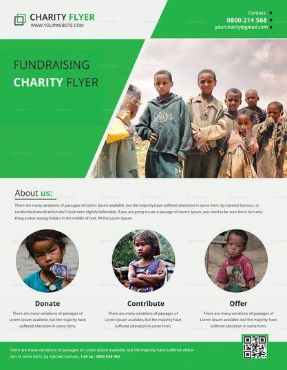 Charity Fundraising Flyer Print Template | Pinterest | Flyer ...