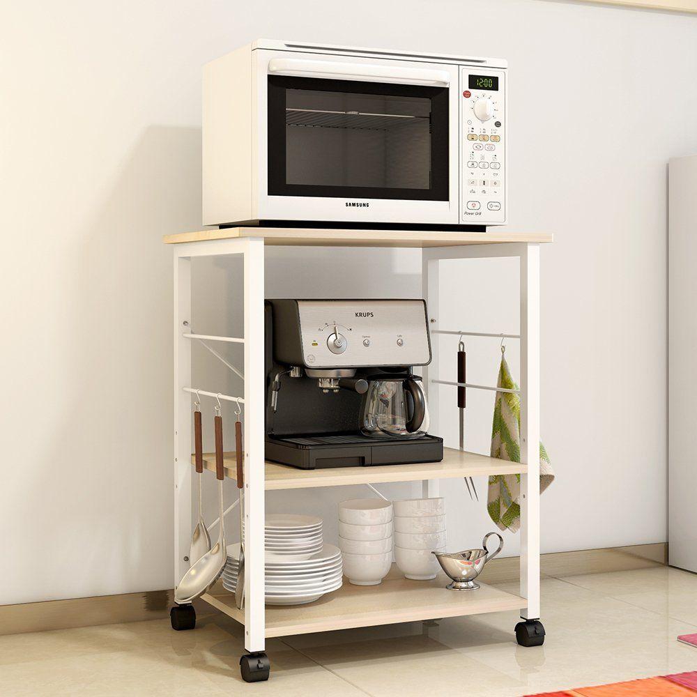 Dland Kitchen Utility 23 6 Microwave Cart Stand Storage 3 Tier