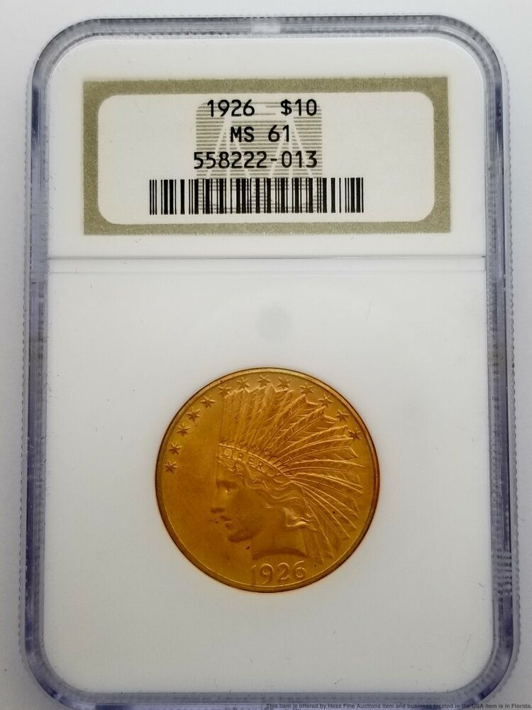 1926 10 Ten Dollars Ngc Ms 61 Indian Head Eagle Gold Coin Ebay In 2020 Gold Coins 10 Things Indian Head