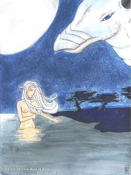 Silvara and the silver moon by maradax