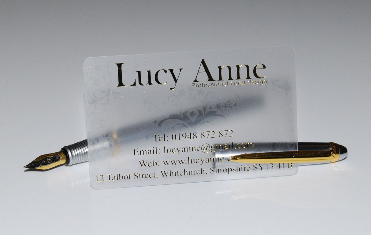 acetate business cards with hot gold foil logo | Paper and so ...