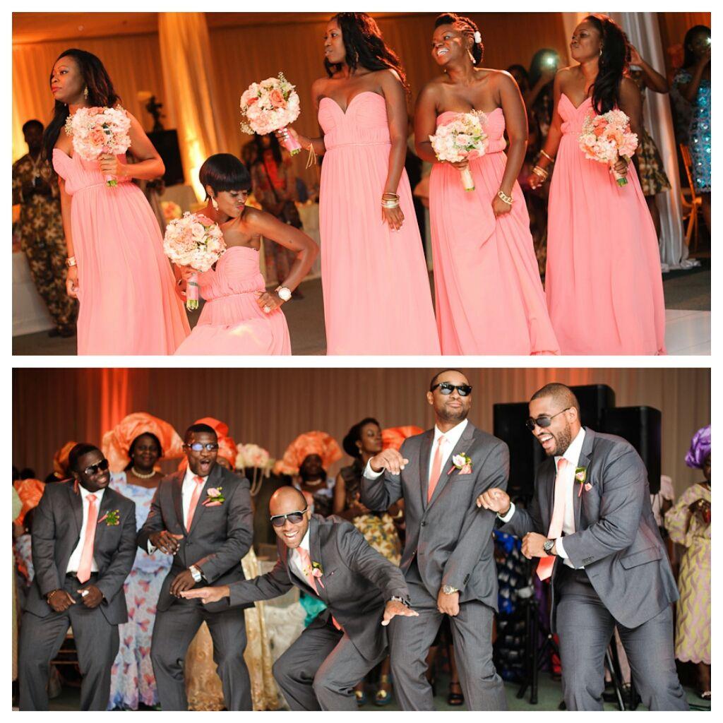 Nigerian Wedding 50 Beautiful Color Coordinating Ideas For Your Bridesmaids Groomsmen Nigeria Gray Wedding Colors Wedding Colors Bridesmaids And Groomsmen