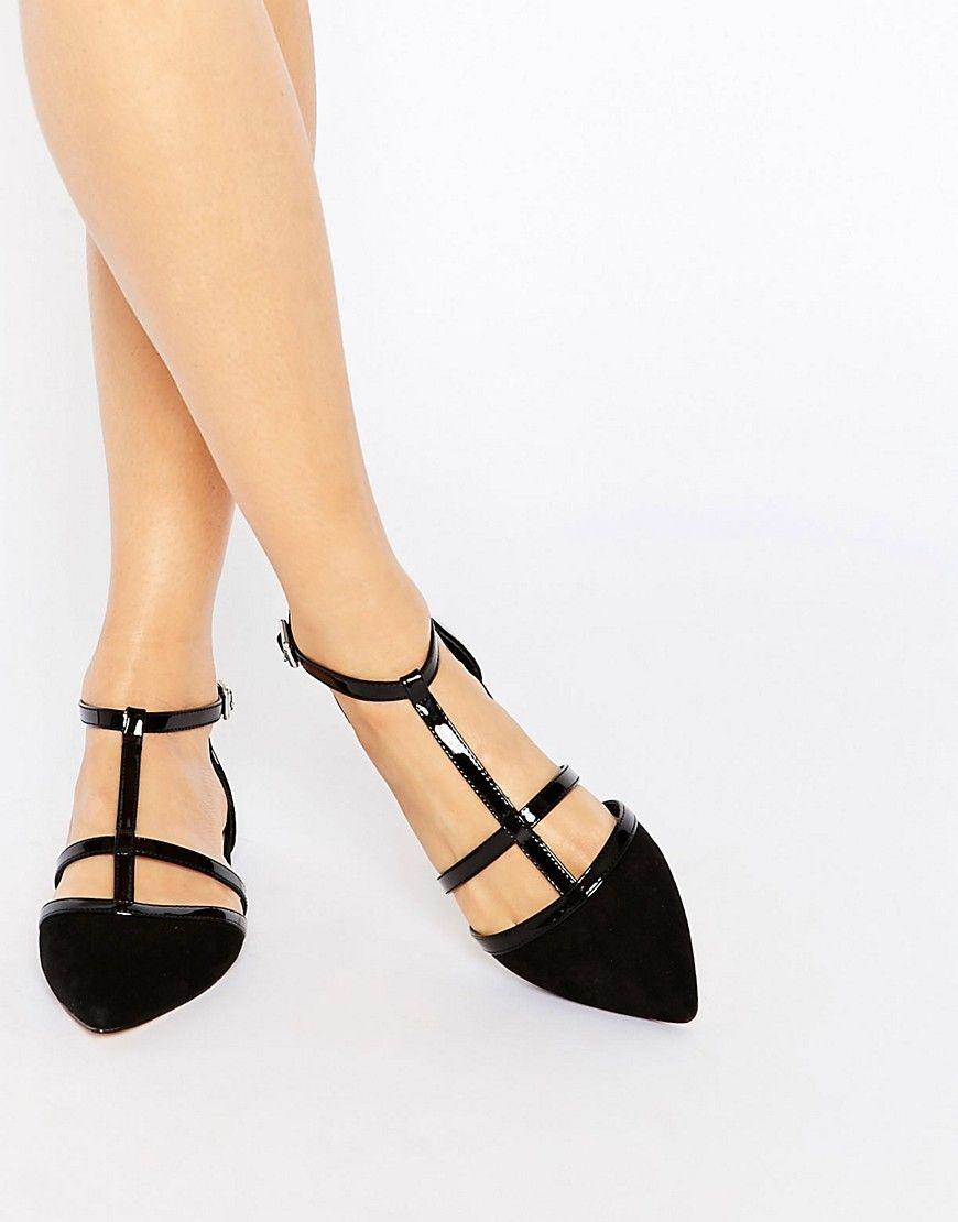 Carvela Mixx T Bar Flat Shoes | Flats