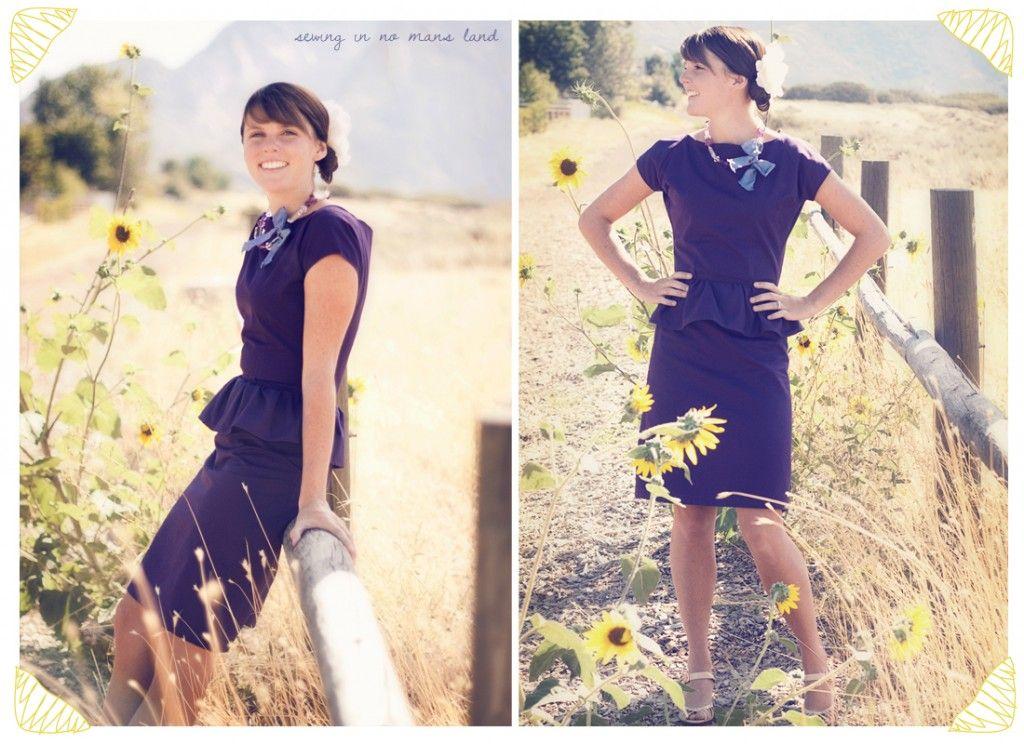 Plum harvest dress pattern