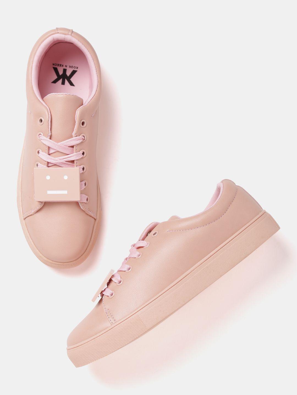 d213354cd427 Kook N Keech Women Peach-Coloured Sneakers #Peach#Casual#Laceup ...