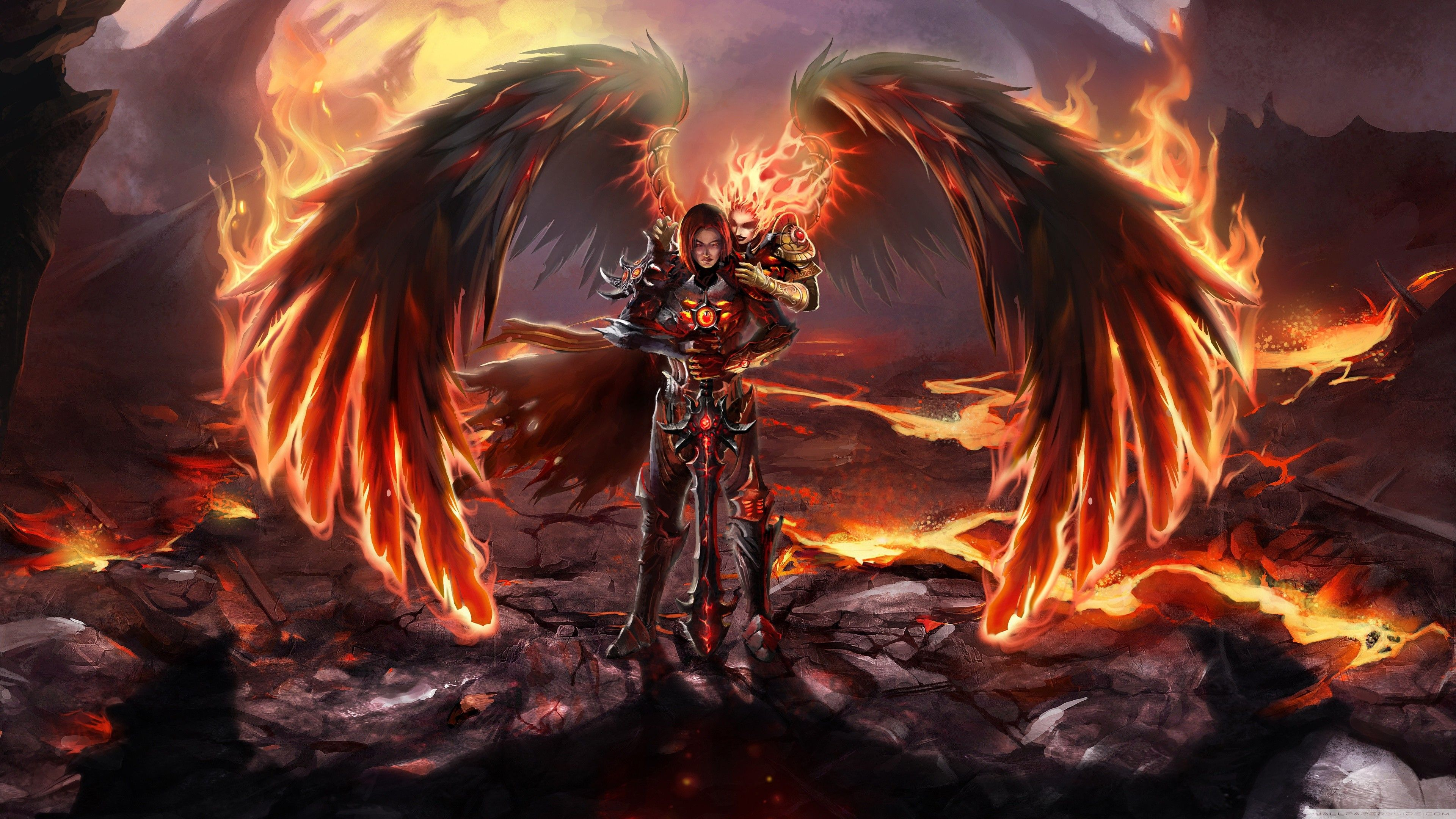 Wallpapers :: video games, wings, fire, Angel | In Their ...