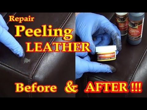Repair Peeling Leather With Our Leather Dye Repair Kit ( Maroon Brown B )  And Our Leather Repair Filler Kit.