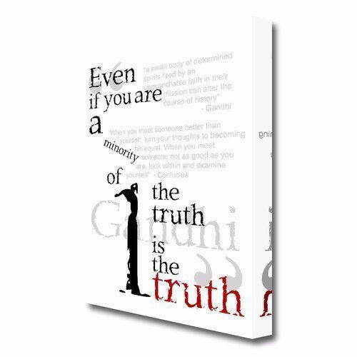 East Urban Home Leinwandbild Gandhi The Truth is the Truth | Wayfair.de