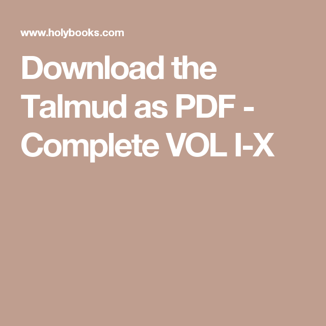Download free the steinsaltz talmud bavli small set (29 volumes) (ebo….