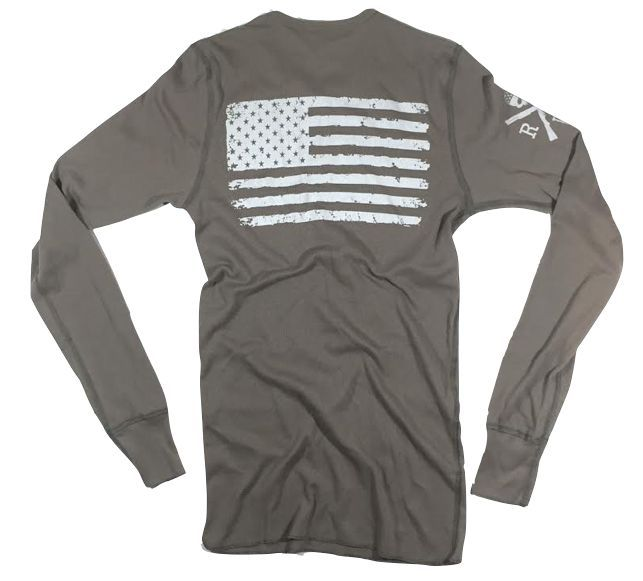 Men's Old Glory Long Sleeve Thermal (Heather Desert)