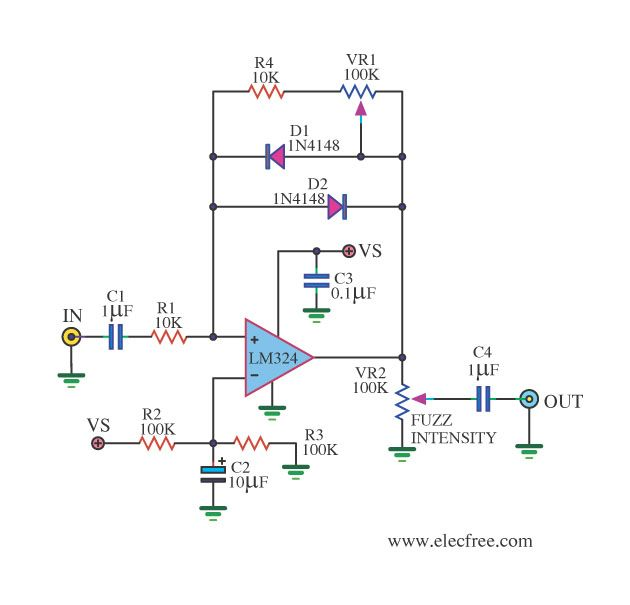 Light Intensity Measurement Meter Using Lm324 Circuit