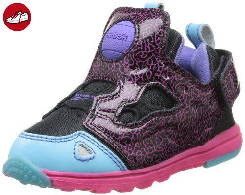 Reebok Pump Aerobic Lite MID FG blue pink gravel white Sneaker Schuhe blau