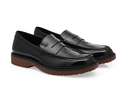 #HOGAN Men's Fall - Winter 2013/14 #collection: brushed leather penny #loafers ROUTE H217.