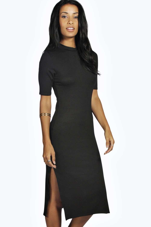 High neck cut out midi dress black fashiontodiefor pinterest