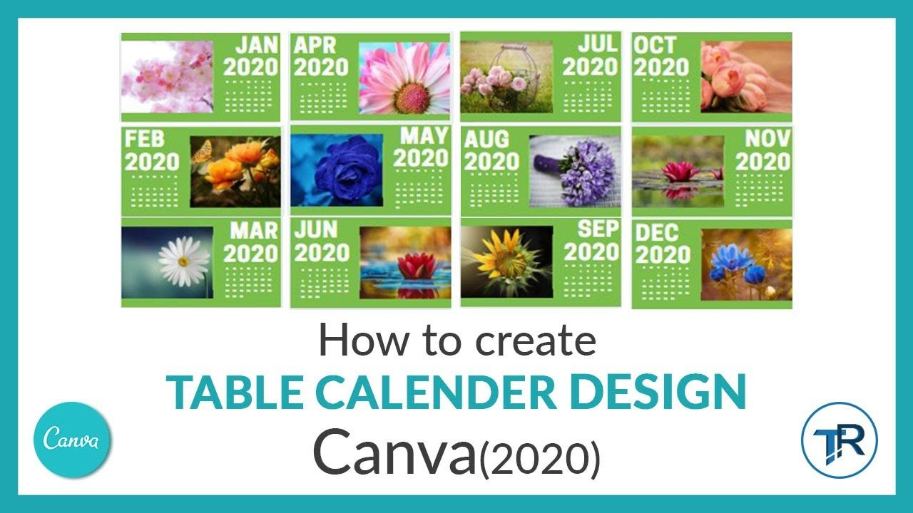 HOW TO MAKE CALENDER USING CANVA (2020) in 2020 Online
