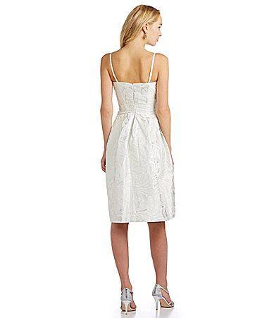 5f7eade3d Vera Wang Metallic Brocade FitandFlare Dress  Dillards Vestidos Formales