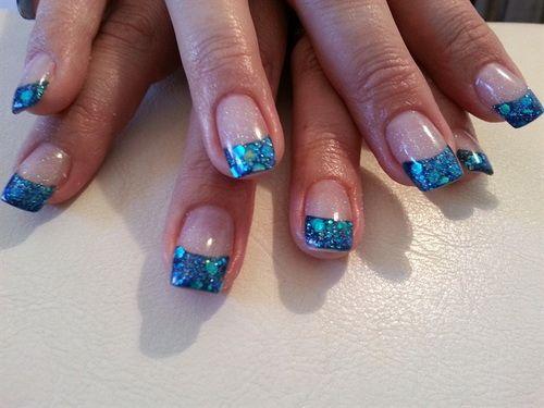 Blue Acrylic Nail Art Designs Nail Color Ideas Pinterest