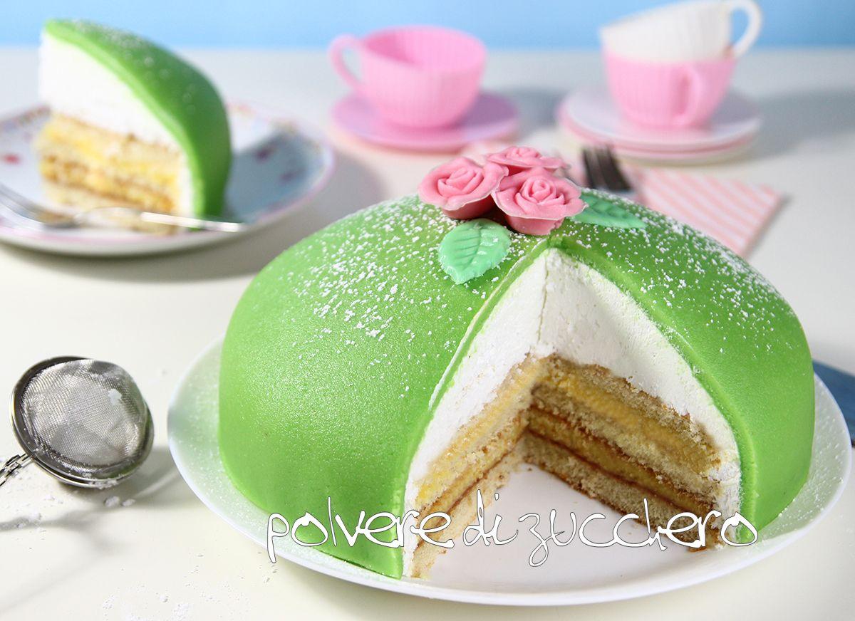 Tutorial e ricetta come realizzare la princess cake o prinsesstårta,la torta verde della principessa  Tutorial princess cake