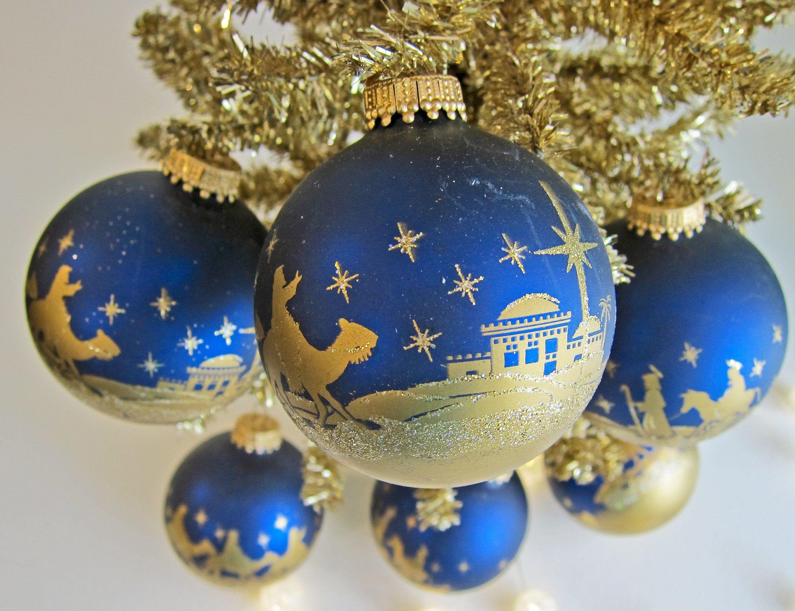 Christmas Tree Stars Ornaments Set of Seven
