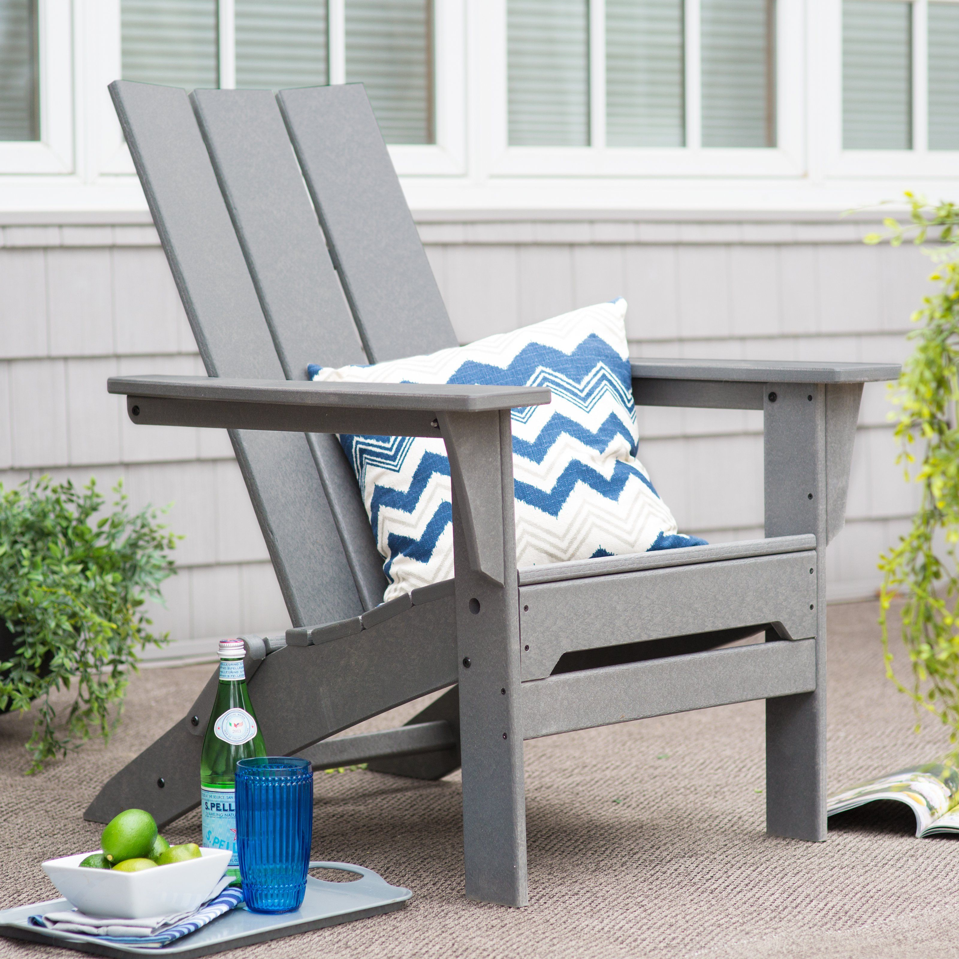 Outdoor Polywood 194 174 Modern Folding Adirondack Chair