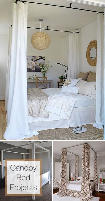 Dreamy diy canopy bed ideas diy bed bedroom decor home - Canopy bed curtain ideas ...