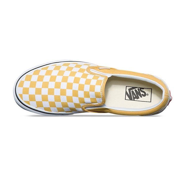 Yellow Checkered Vans #yellow #vans