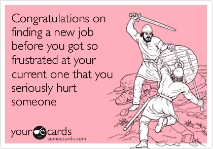 congratulations for the new job