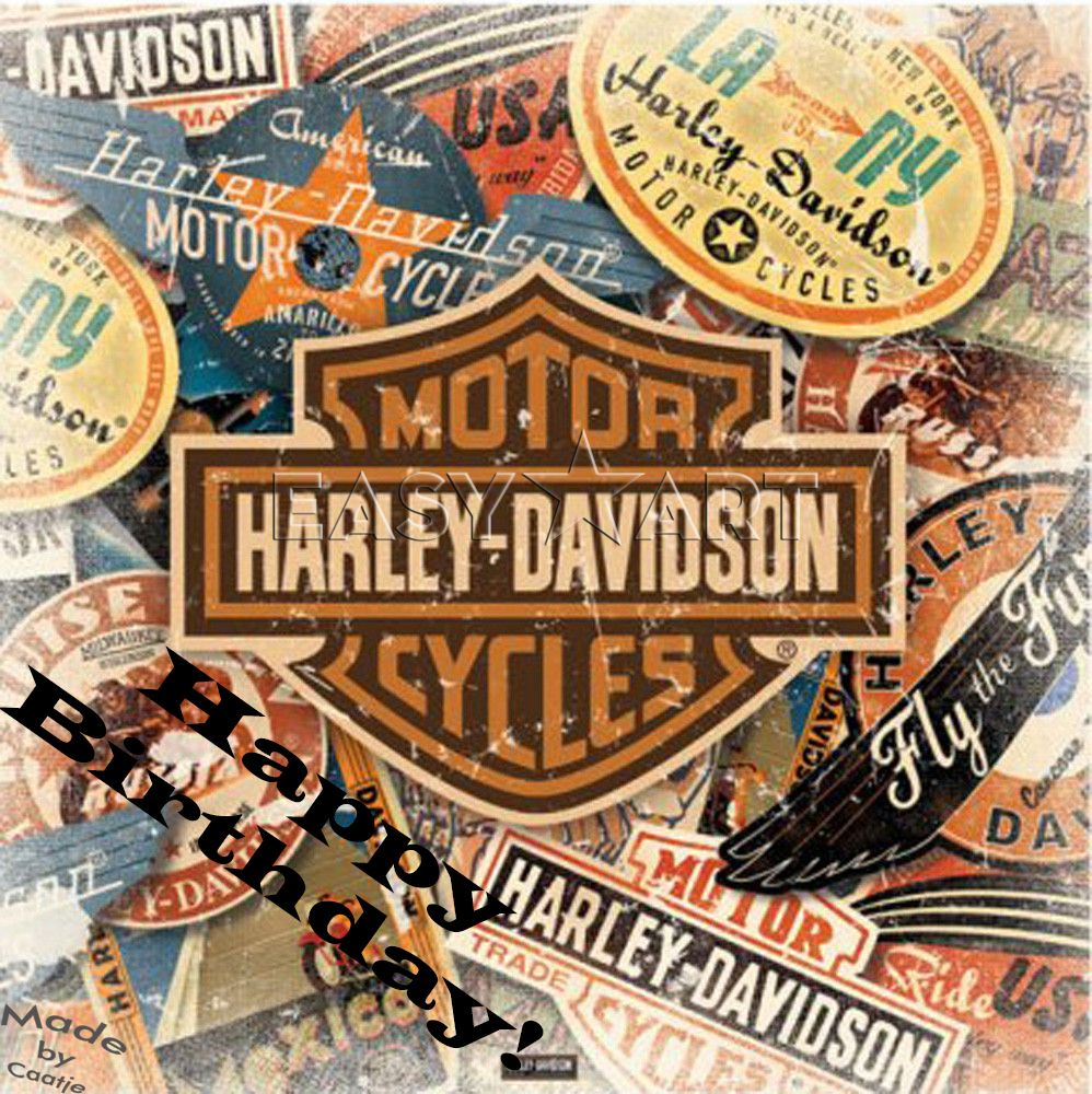 Happy Birthday! Harley Davidson. | Verjaardagspins | Pinterest