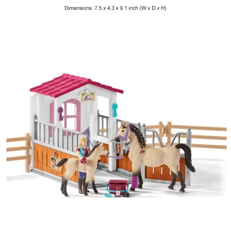 Schleich Horse Stall With Arab Horses Groom Play Set The Cheshire Horse Horse Stalls Horses Horse Stall Sign