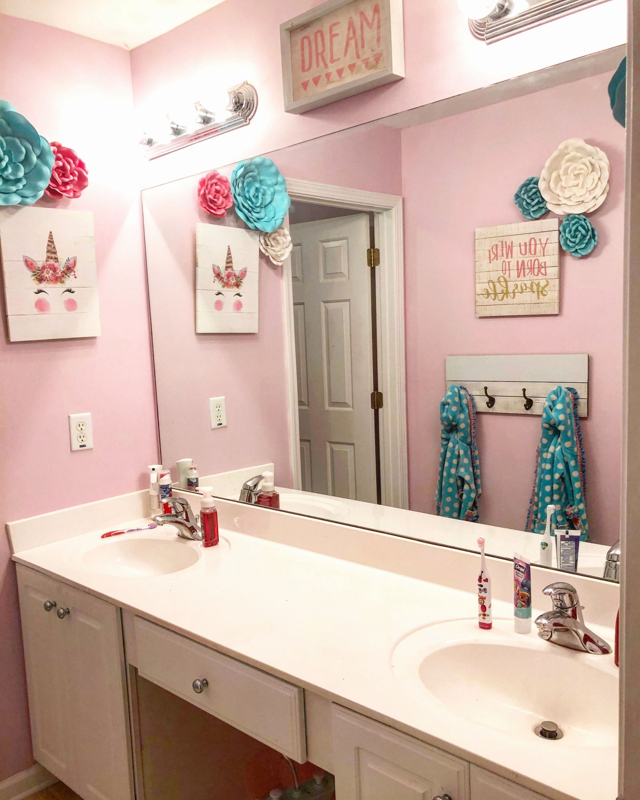 Girl Bathroom Decorating Ideas Inspirational Girls Unicorn Bathroom Girls Bathroom In 2019 In 2020 Girl Bathroom Decor Girly Bathroom Little Girl Bathrooms