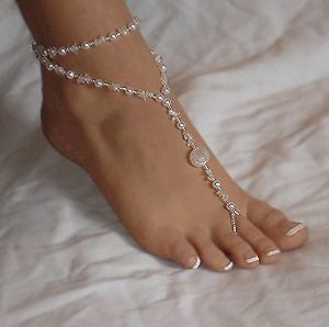 Beautiful Womens Barefoot Sandal Beach Pearl Anklet Ankle Bracelet Foot Chain