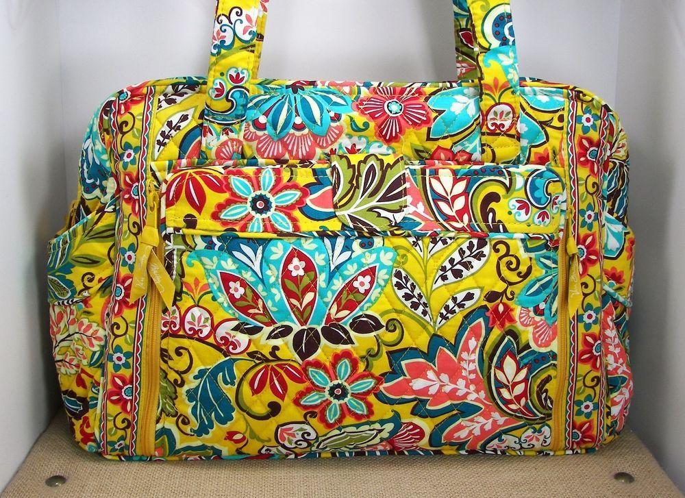 Vera Bradley Provencal Make A Change Baby Diaper Bag Yellow Fl Retired Verabradley Satcheldiaperbag