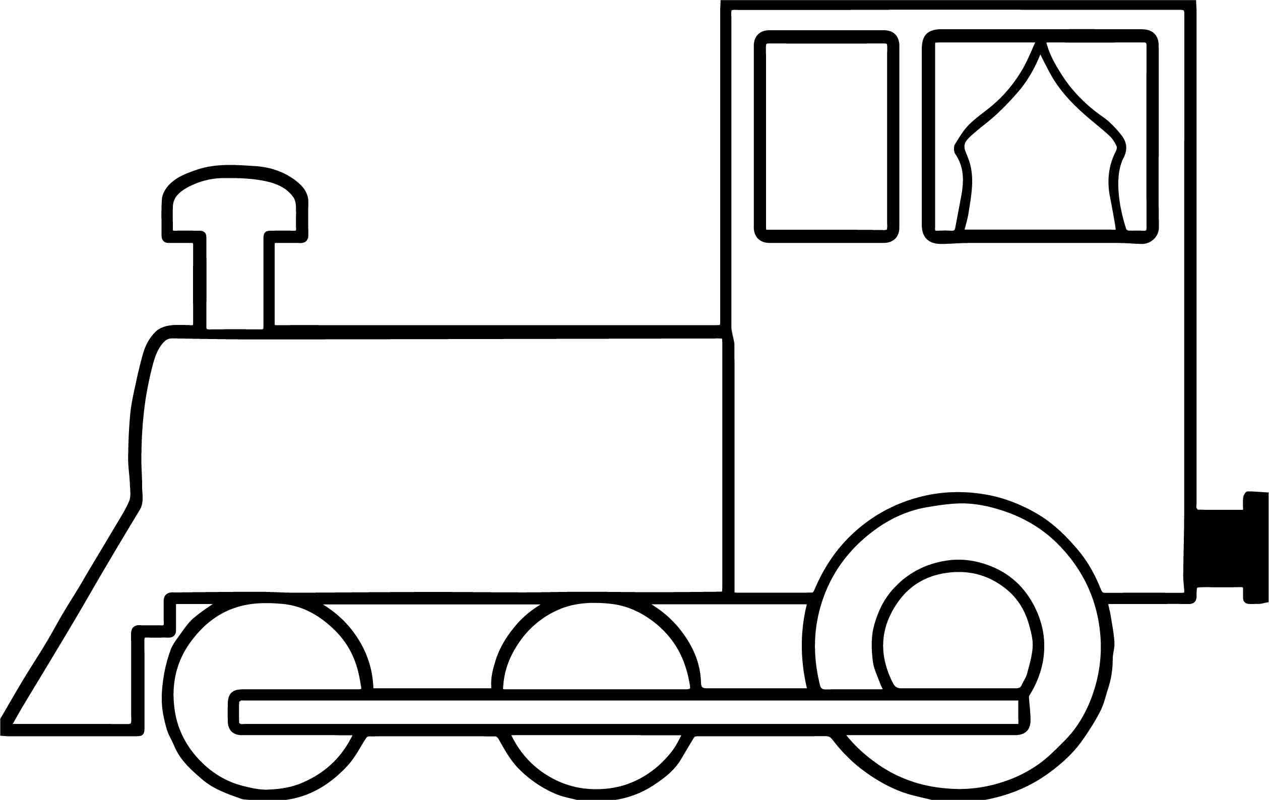 Simple Train Coloring Page Train Coloring Pages Bear Coloring Pages Polar Bear Coloring Page