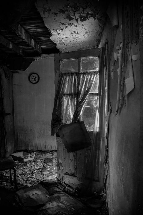 """""""11:52"""" is a photo of an abandoned house taken in Schuylkill County Pennsylvania."""