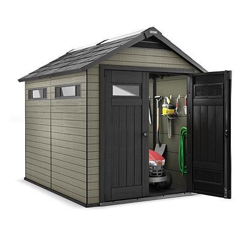 craftsman 7 5 x 9 wood plastic composite storage building 410 cu - Garden Sheds 7 X 9