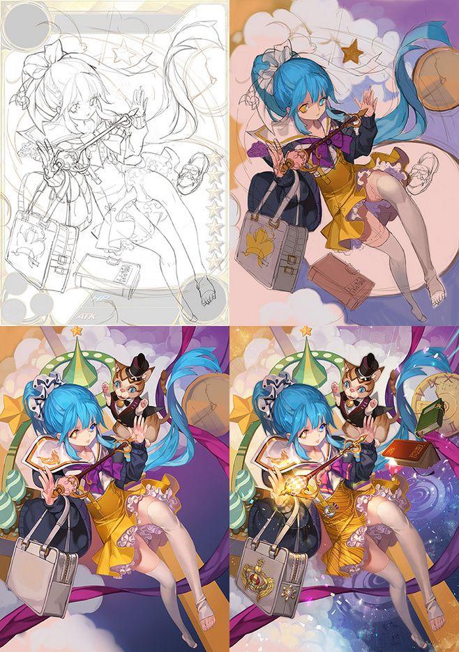 그라나사] 일레나 그라나사의 신규... Digital painting tutorials