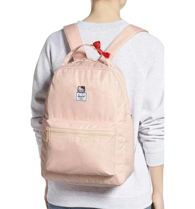 fec62ad0a0 Herschel Supply Co. x Hello Kitty Nova Mid-Volume Women s Backpack Bag  Cameo Rose  HerschelSupplyCo  Backpack  hellokitty  herschel  valentines    ...