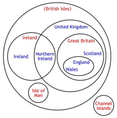 The British Isles In A Venn Diagram Amusing Venn Diagrams