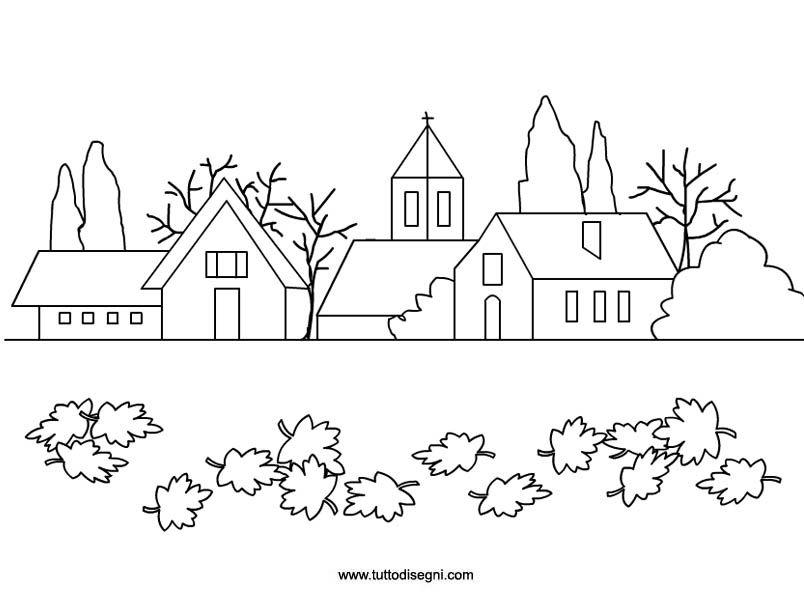 Paesaggio autunnale da colorare for Paesaggi semplici da disegnare