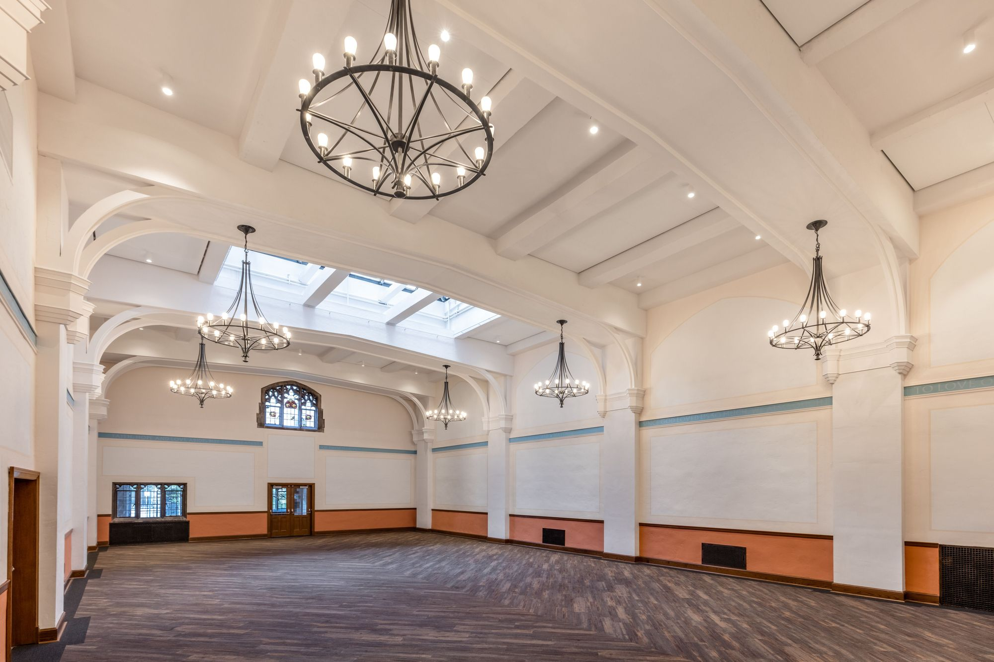 Church Amenity Space Venue Rental Built In Speakers Commercial Kitchen