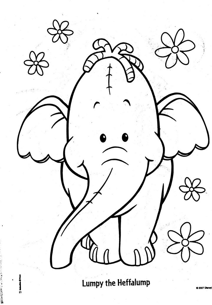coloring pages winnie the pooh and