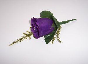 Romance-Bridal-Button-Hole-Corsage-Complete-With-Lapel-Pin-Choice-of-7-Colours