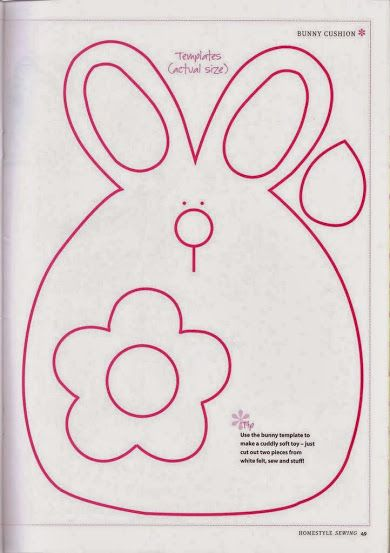 molde almofada coelho | POLŠTÁŘKY | Pinterest | Easter, Sewing ...