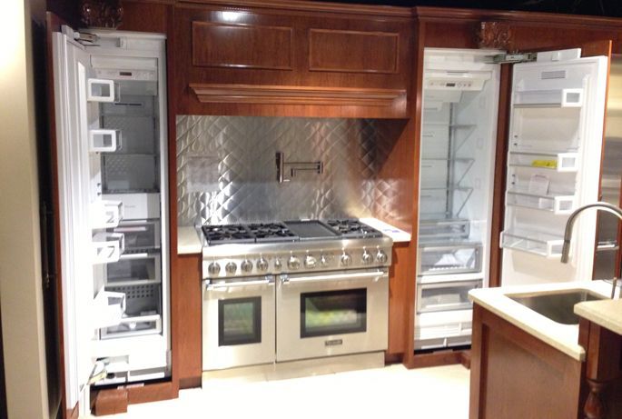 The 4 Best Integrated Refrigerators --- These products can be covered by your cabinets with custom panels and offer a seamless, clean look in your kitchen #refrigerators #kitchen #appliance #yale