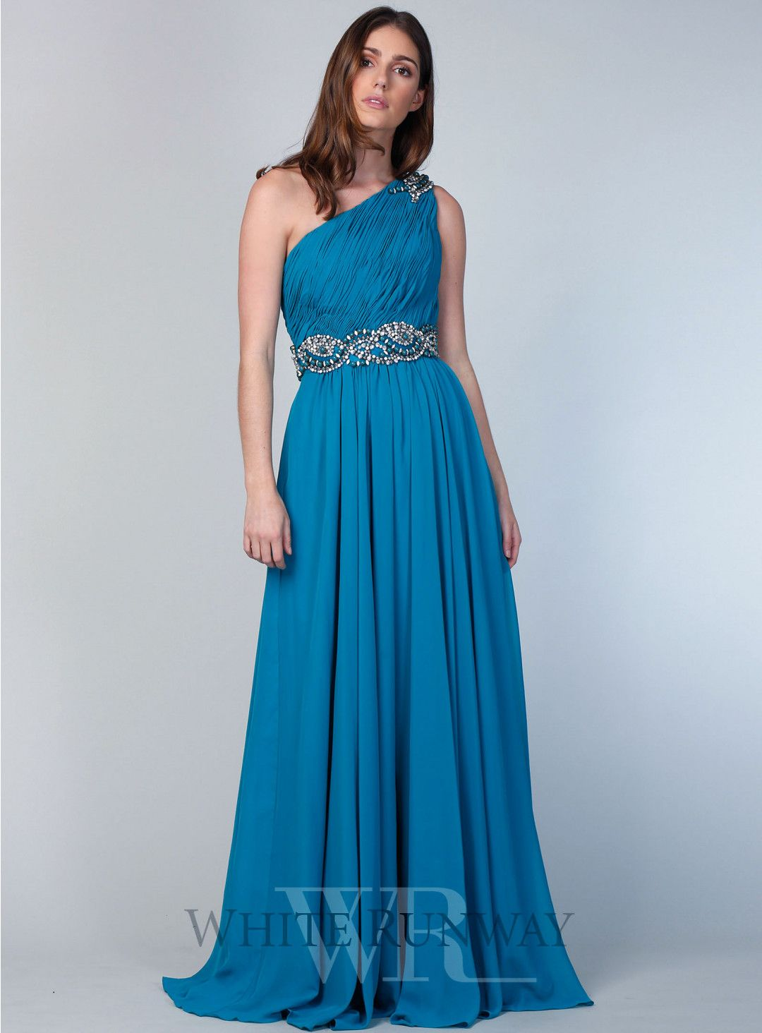 Leah Beaded Dress. A very pretty one shoulder formal evening dress ...